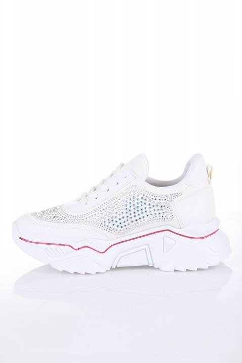 Sneakersy damskie DALMA WHITE RED
